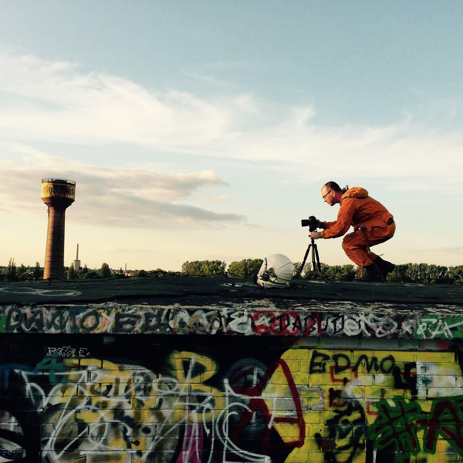 Continental Tire Factory - Hanover - Germany abandoned astronaut photoshoot