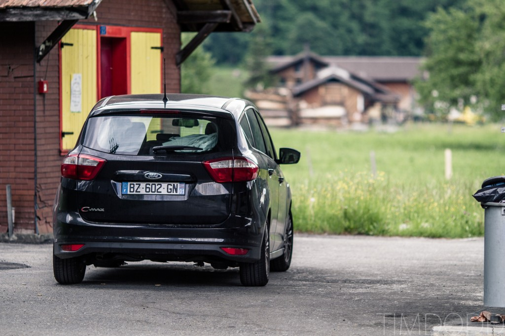 Ford Cmax with Hertz rental car company in France, Switzerland, and Italy, Europe.