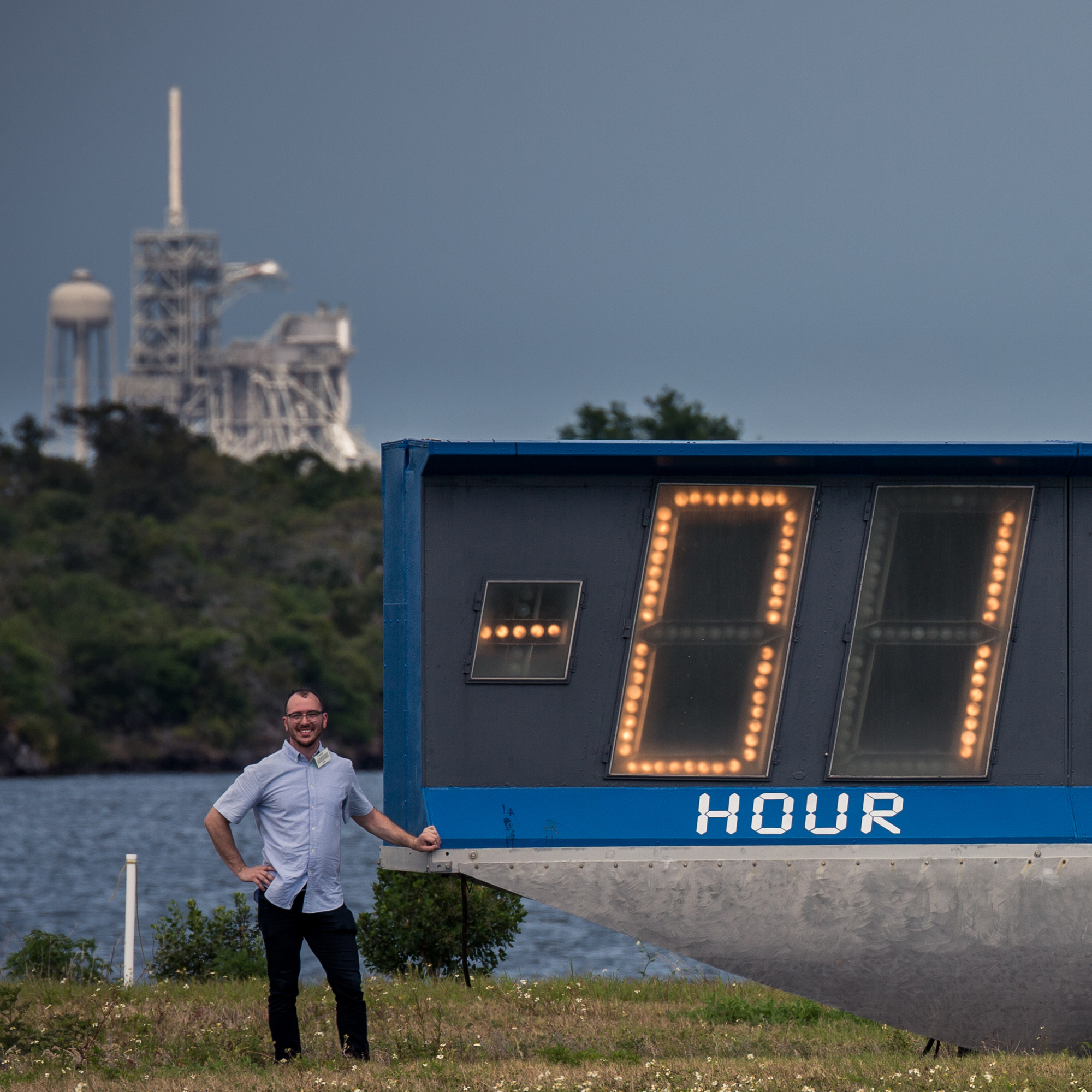 Countdown Clock - Kennedy Space Center - Florida vintage historic