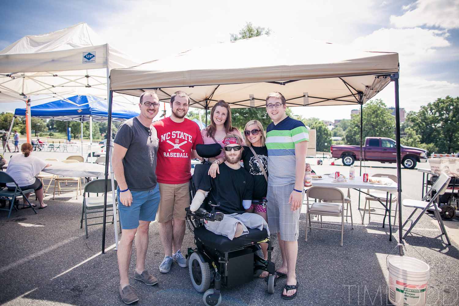 Tim Dodd Photography from Cedar Falls Iowa visits friend Taylor Morris, a quad amputee veteran injured in duty while in Afghanistan.