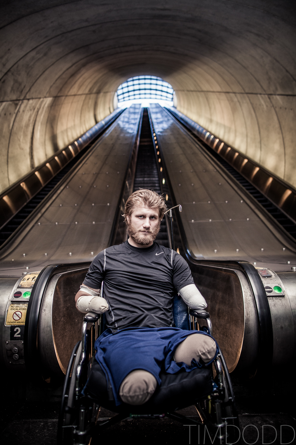 Tim Dodd Photography Cedar Falls Iowa vists friend Taylor Morris. Taylor is a quad amputee who lost his limbs while serving in Afghanistan
