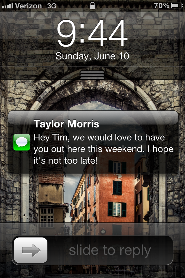 Tim Dodd Photography receives a text from his friend Taylor Morris from Cedar Falls Iowa