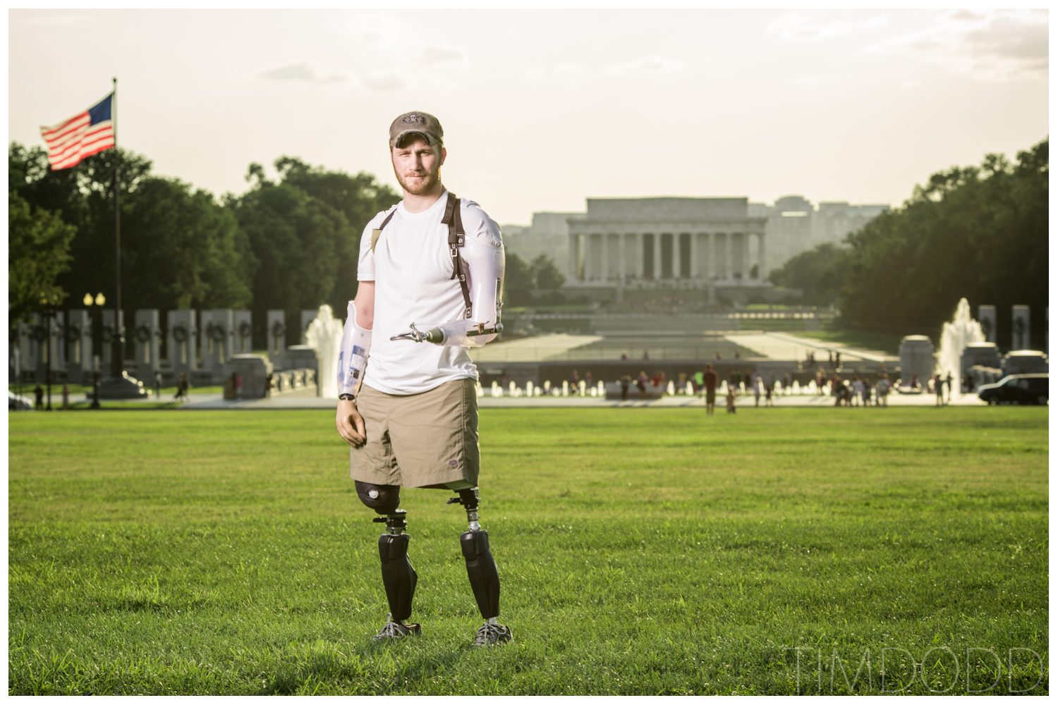 Taylor Morris quad amputee walking Bethesda Walter Reed Otto Bock x2 Tim Dodd Photography Cedar Falls Waterloo Iowa double AK above knee amputation