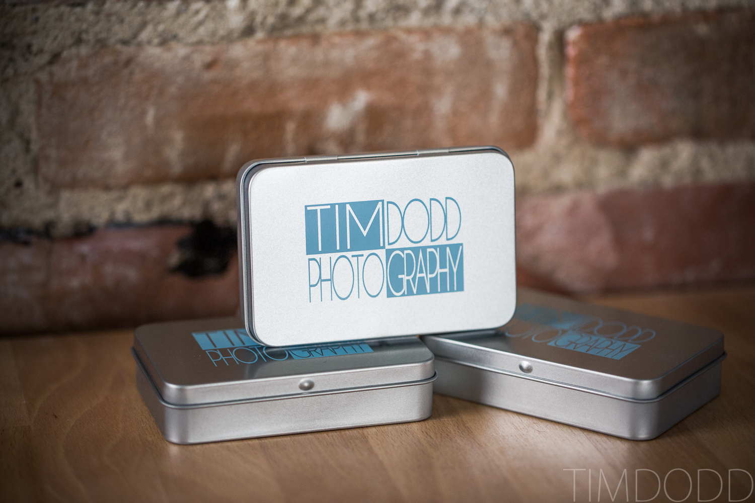 Tim Dodd Photography Cedar Falls Waterloo Iowa unique custom flash drive USB business card design delivery client wedding photographer tin case