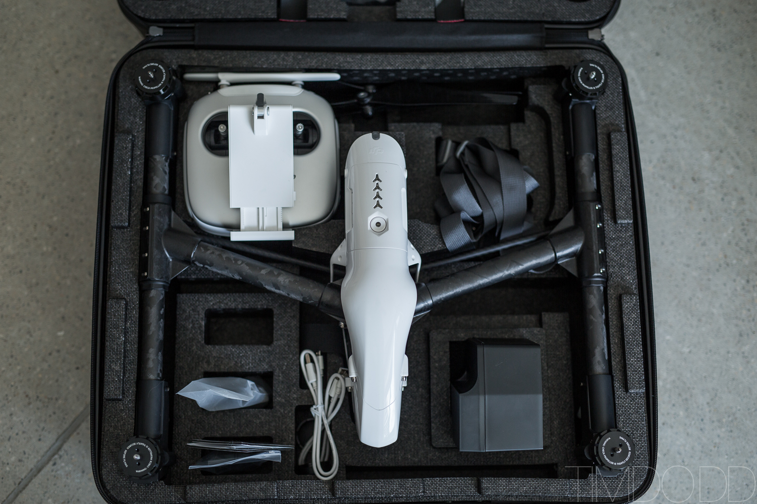 Packing the DJI Inspire 1 case out of the box Tim Dodd Photography aerial Iowa video farm survey