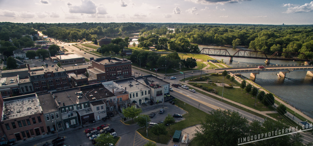 Aerial Photography photograph of Cedar Falls Iowa DJI Inspire 1 NAZA EOS M