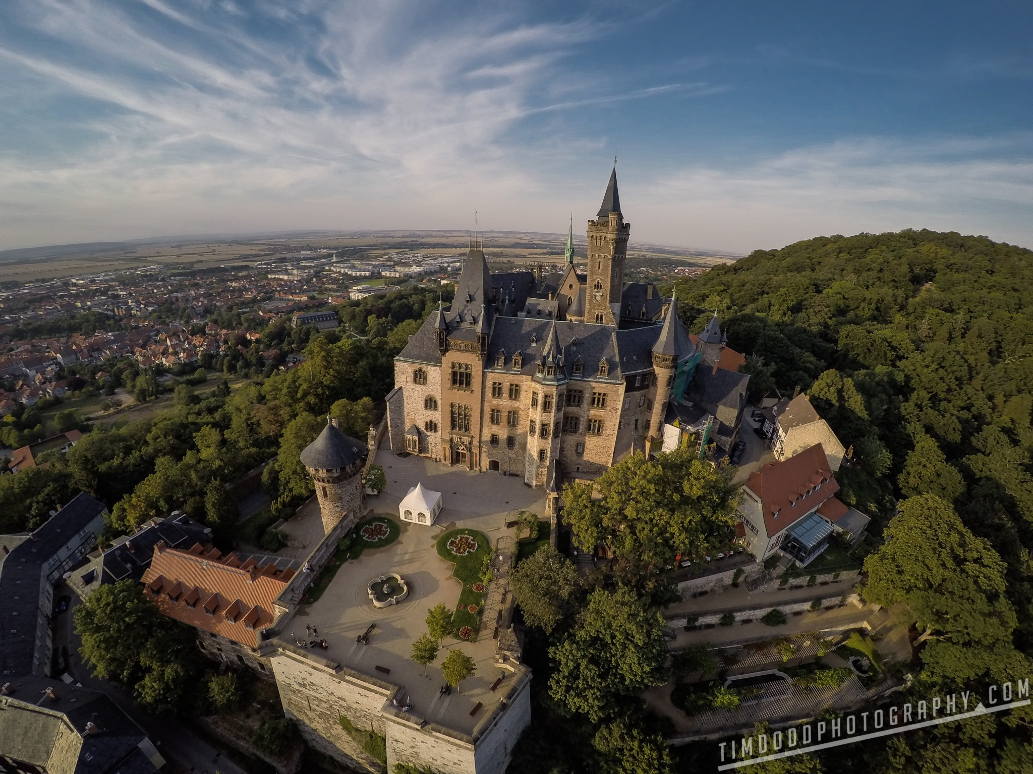 Wernigerode Castle, Wernigerode, Germany aerial beautiful Tim Dodd Photography