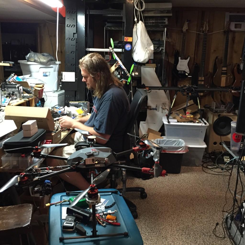 Ben Stineman of Rotor Visual in Cedar Falls Iowa drone multirotor RC repair custom build