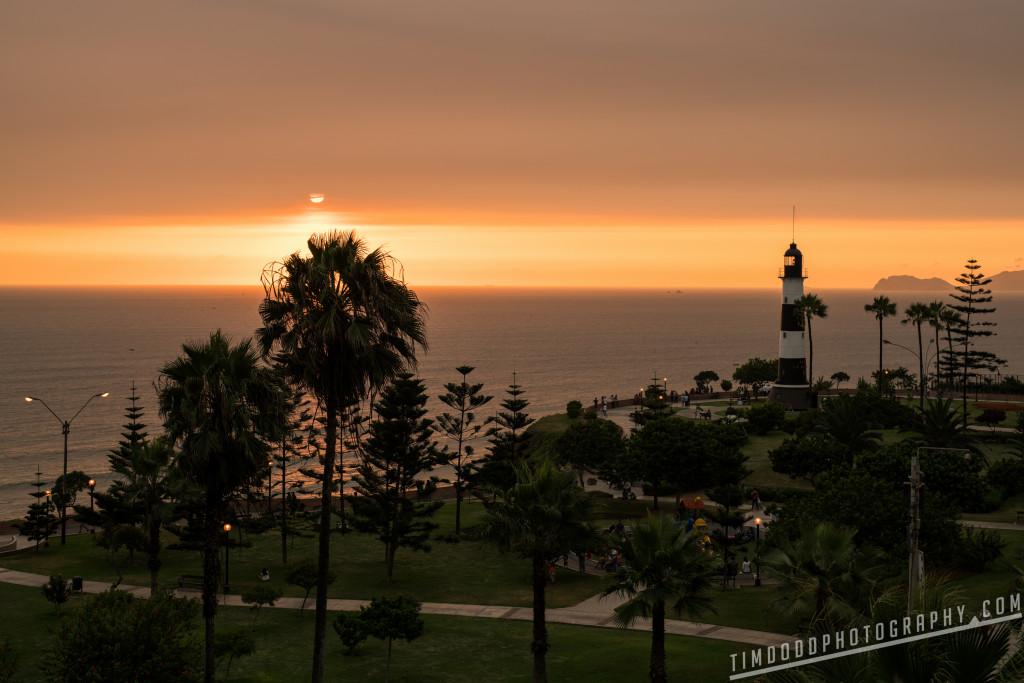 Miraflores Lighthouse - Faro La Marina Lima Peru Parque Antonio Raimondi sunset beach by Tim Dodd Photography
