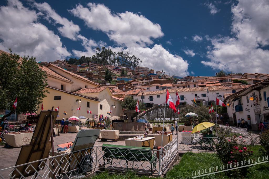 Cusco Peru travel from Plaza San Blas Cusco to Machu Picchu flights train bus