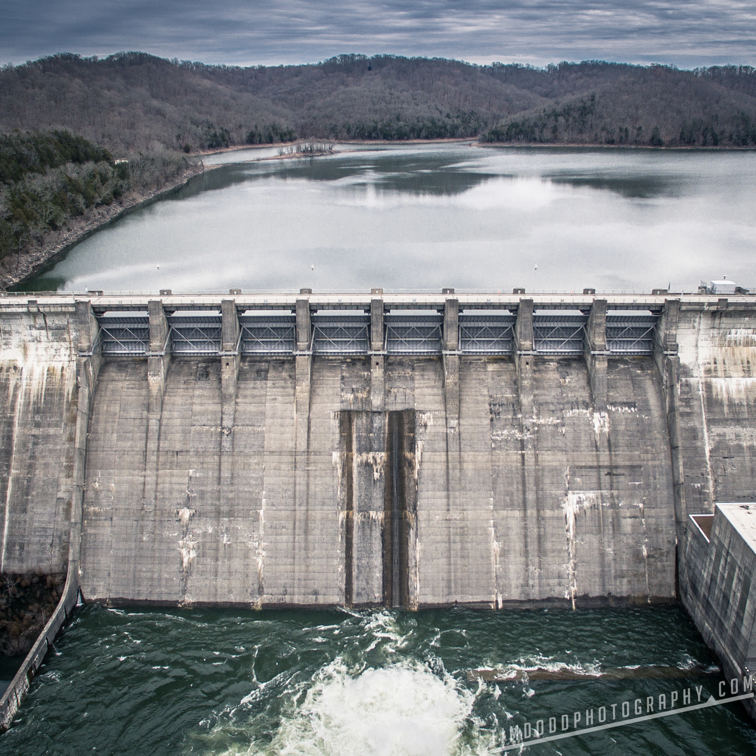 Center Hill Dam Tennessee Edgar Evins State Park Aerial drone dji Inspire 1 by Tim Dodd Photography