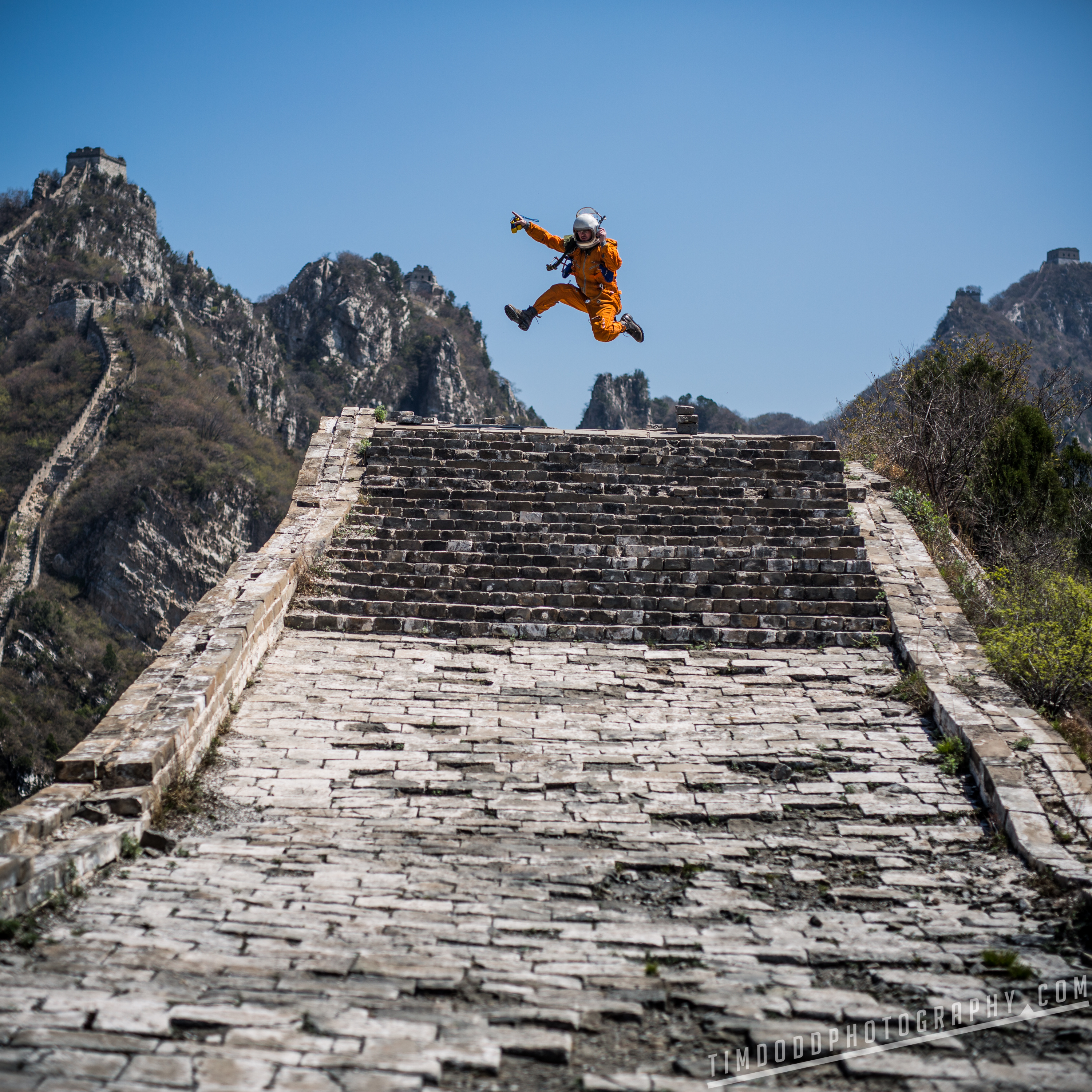 Great Wall of china abandoned Jiu Shui Keng, Huairou Qu, Beijing Shi China best photography hiking tips tourism travel tourist where unrestored untouched ancient by Tim Dodd Photography Everyday Astronaut space suit cosmonaut