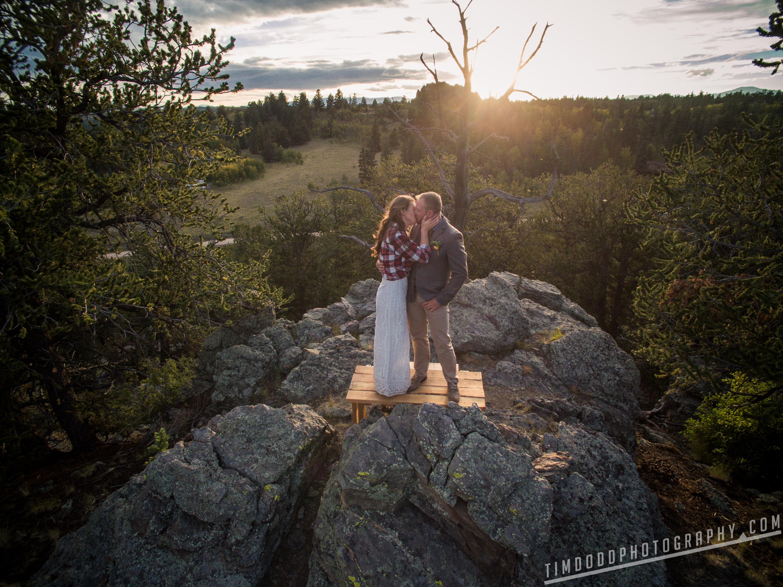 Breckenridge Jefferson Park County Denver Colorado wedding photography photographer photo pics pic night evening lights sunset bride and groom dance Professional Pro best award winning Tim Dodd Photography drone aerial photo