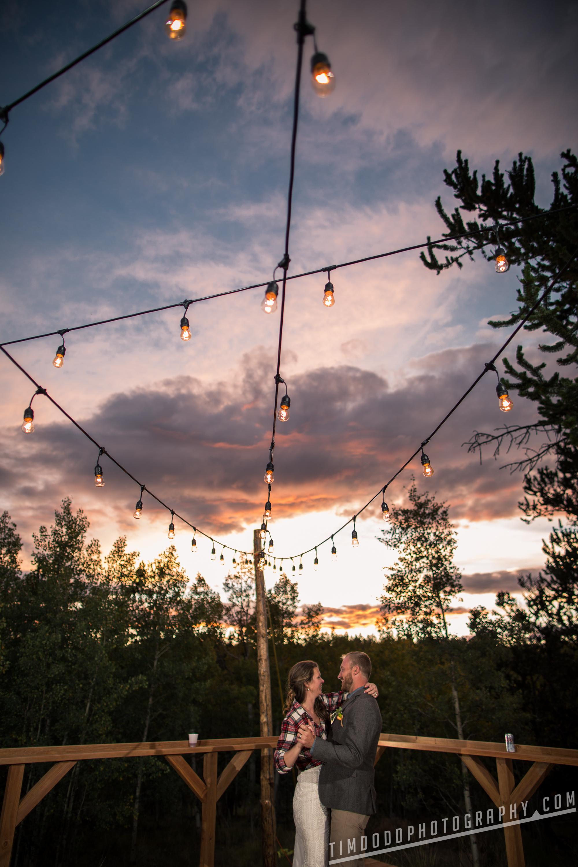 Breckenridge Jefferson Park County Denver Colorado wedding photography photographer photo pics pic night evening lights sunset bride and groom dance Professional Pro best award winning Tim Dodd Photography