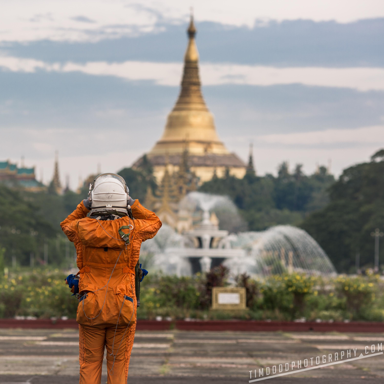 Shwedagon Pagoda at night from Vista Bar in Yangon Rangoon Myanmar Burma evening best view travel tips tourist tourism beautiful by Tim Dodd Photography professional Everyday Astronaut asia