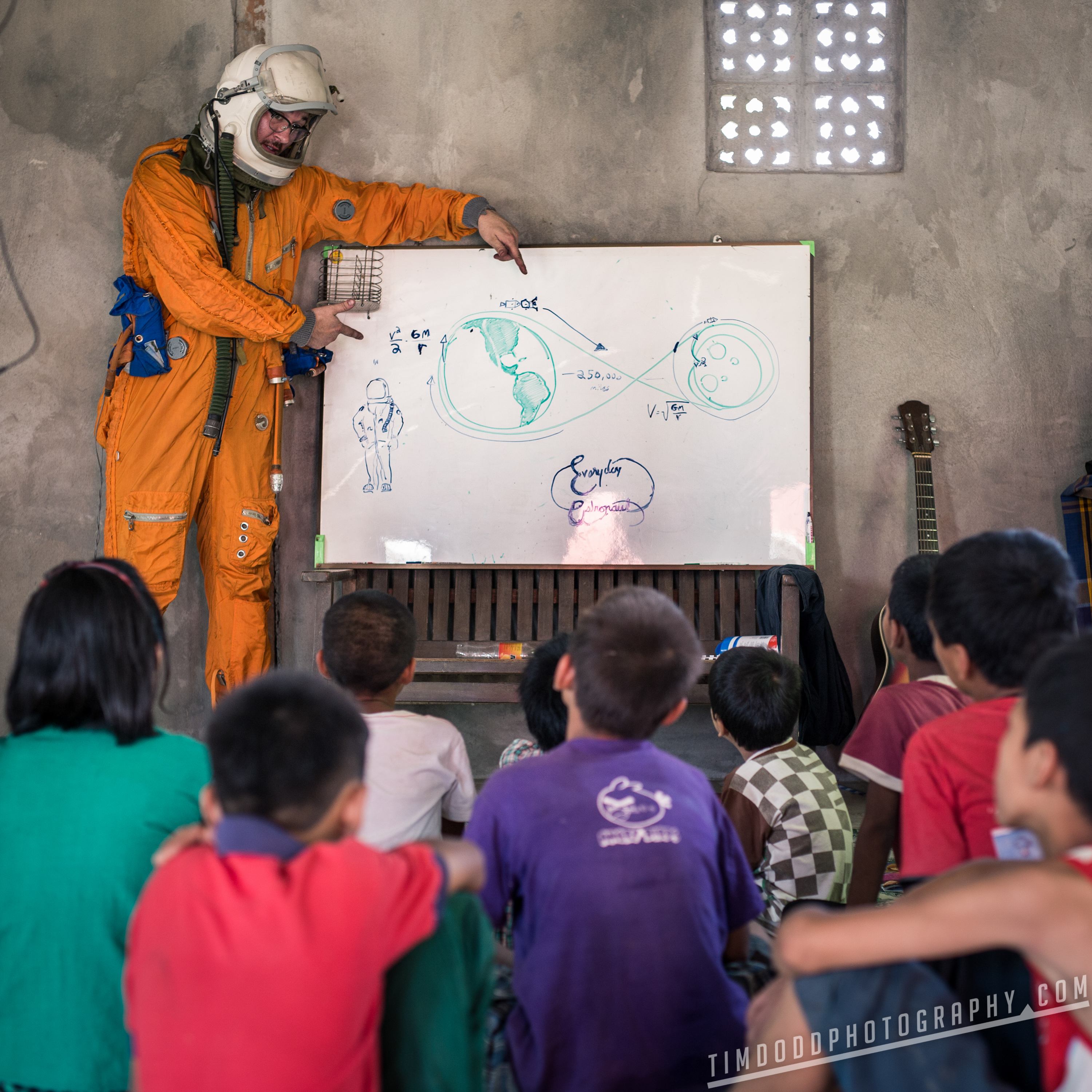 Myanmar Astronaut children home color flower gardens global populace mizuba tea company orphanage teaching english rocket science in asia by Tim Dodd Photography travel tourist tourism