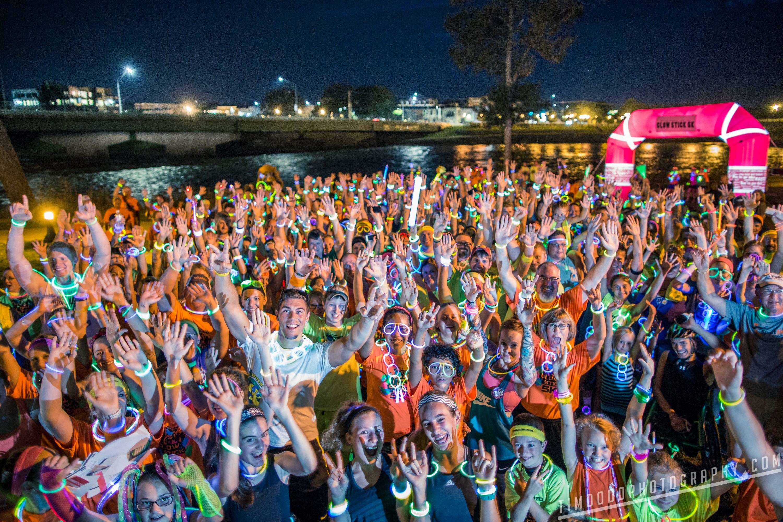 Taylor Morris 5k 2015 Cedar Falls Iowa glow stick run