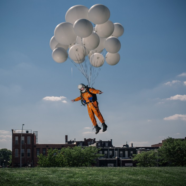 Everyday Astronaut Balloons Cedar Falls Iowa by Tim Dodd Photography floating funny